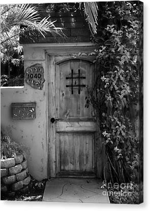 Garden Doorway 2 Canvas Print by Perry Webster