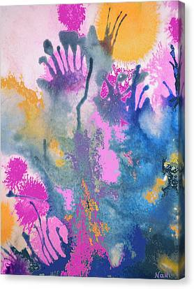 Garden Fantastico Canvas Print by Renate Nadi Wesley