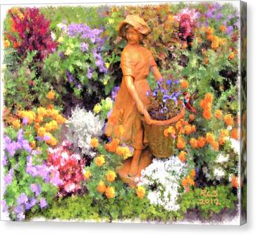 Garden Girl Canvas Print by Richard Stevens