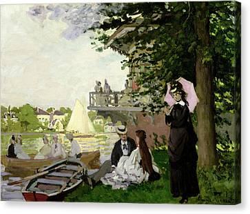 Garden House On The Zaan - Zaandam Canvas Print by Claude Monet