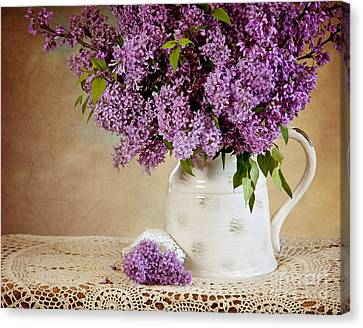 Canvas Print featuring the photograph Garden Lilac by Cheryl Davis