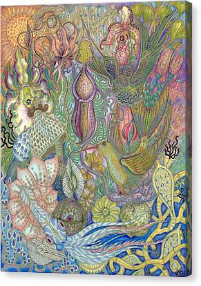 Garden Of Eden - Birds Canvas Print