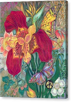 Garden Of Eden - Flower Canvas Print