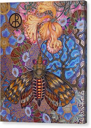 Garden Of Eden - Moth Canvas Print