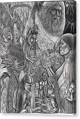 Garden Of Eden Canvas Print by Vincnt Clark