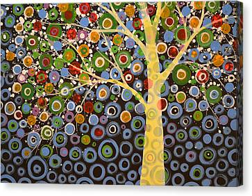 Garden Of Moons #1 Canvas Print by Amy Giacomelli