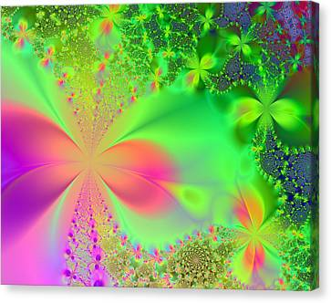 Garden Of Peace And Happiness Canvas Print by Ester  Rogers