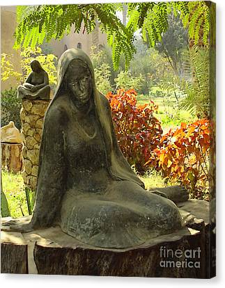 Garden Of Statues Egypt Canvas Print by Mary Machare