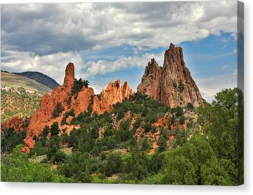 Garden Of The Gods - Colorado Springs Co Canvas Print by Christine Till
