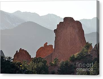 Garden Of The Gods Canvas Print by Cheryl McClure