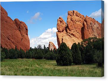 Canvas Print featuring the photograph Garden Of The Gods by David Pantuso