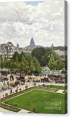 Le Jardin Canvas Print - Garden Of The Princess by Claude Monet