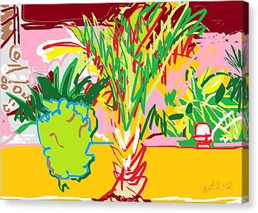 Digital Free Style Canvas Print - Garden Palm by Anita Dale Livaditis