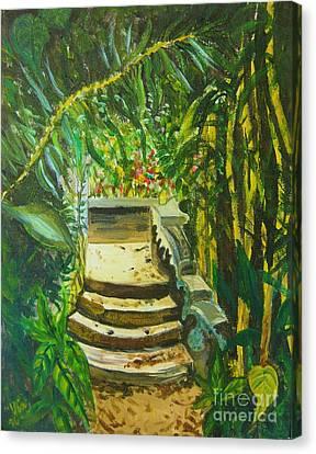 Garden Passage Canvas Print by Judy Via-Wolff