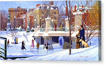 Garden Skaters Canvas Print by Candace Lovely