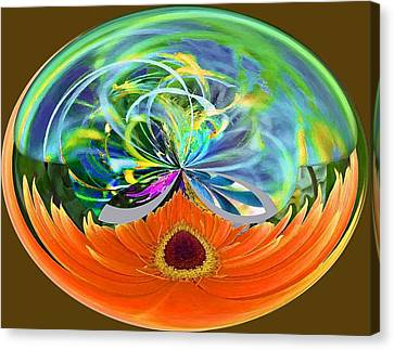 Garden Sphere Canvas Print by Molly McPherson