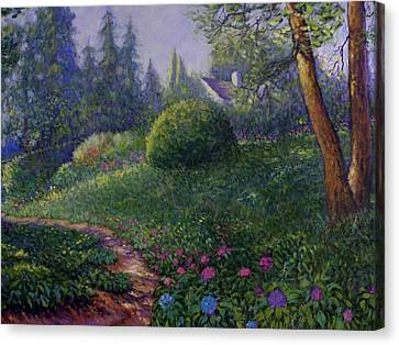Canvas Print featuring the painting Garden Trail by Charles Munn