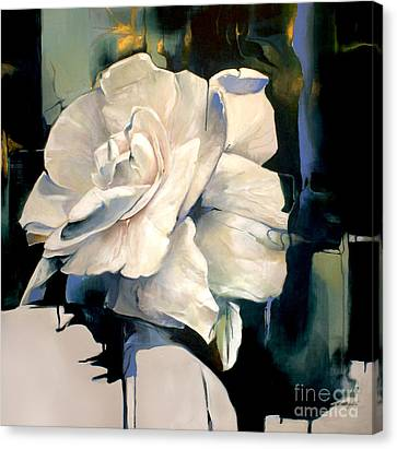 Gardenia Canvas Print by Lin Petershagen