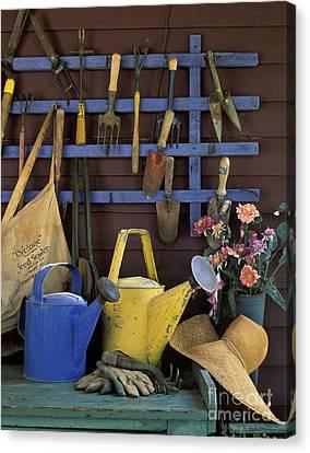 Silk Water Canvas Print - Gardening Tools - Fm000055 by Daniel Dempster