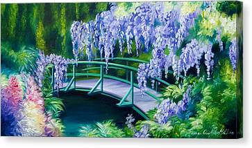 Gardens Of Givernia II Canvas Print by James Christopher Hill