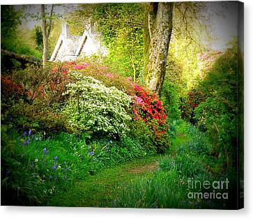 Gardens Of The Old Rectory Canvas Print by Lainie Wrightson