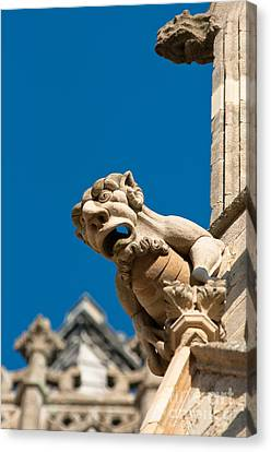 Canvas Print featuring the photograph Gargoyle by Andrew  Michael