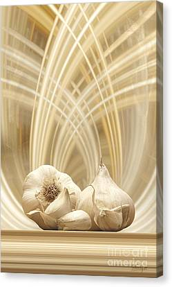 Canvas Print featuring the digital art Garlic by Johnny Hildingsson