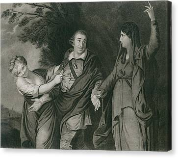 Garrick Between Tragedy And Comedy Canvas Print by Everett