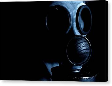 Terrorist Canvas Print - Gas Mask by Neal Grundy