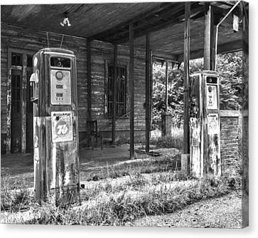 Gas Pumps Canvas Print