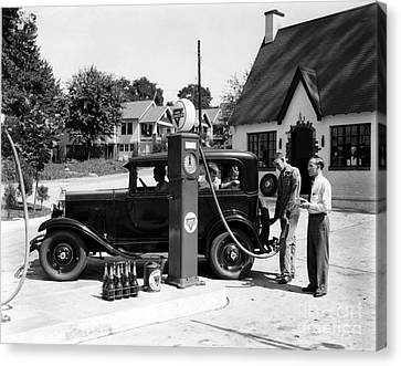 Gas Station Canvas Print by Photo Researchers