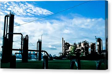 Gas Works  Canvas Print by Chris  Leon