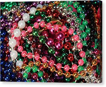 Gasparilla Beads 2 Canvas Print by Carol Groenen