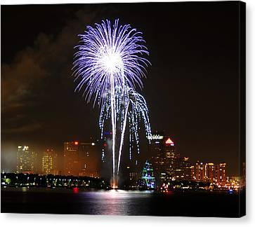 Gasparilla Fireworks Canvas Print
