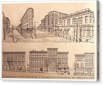 Vancouver Canvas Print - Gastown Vancouver Canada Prints by Kim Hunter
