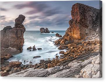 Gate In The Ocean Canvas Print by Evgeni Dinev