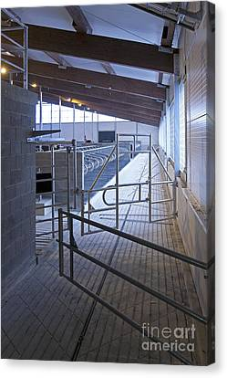 Gated Railing In A Cowshed Canvas Print
