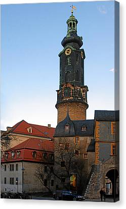 Gatehouse Weimar City Palace Canvas Print by Christine Till
