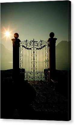 Gate Canvas Print - Gateway To The Lake by Joana Kruse