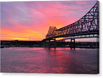 Gateway To The West Bank From Nola Canvas Print by Helen Haw