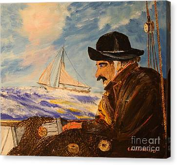 Gathering Storm Canvas Print by Bill Hubbard