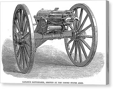 Gatling Gun, 1867 Canvas Print by Granger
