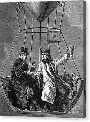 Gay-lussac And Jean-baptiste Biot, 1804 Canvas Print by Science Source