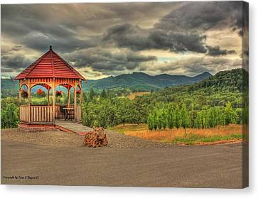Canvas Print featuring the photograph Gazebo In The Storm by Tyra  OBryant