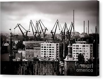 Gdansk Shipyard Canvas Print by Olivier Le Queinec