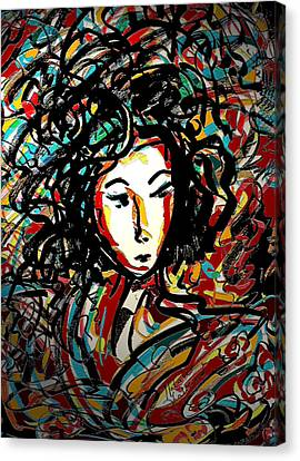 Geisha 7 Canvas Print by Natalie Holland