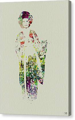 Geisha Canvas Print by Naxart Studio