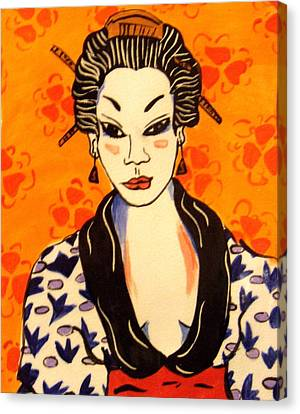 Geisha No. 1 Canvas Print by Patricia Lazar