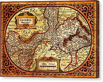 Geldria Ducatus Map Canvas Print by Pg Reproductions