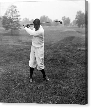 Canvas Print featuring the photograph Gene Sarazen - Professional Golfer by International  Images